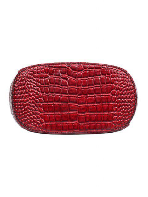 Crocodile Imprimer fermeture clip sac fourre-tout - Rouge vineux   Mobile