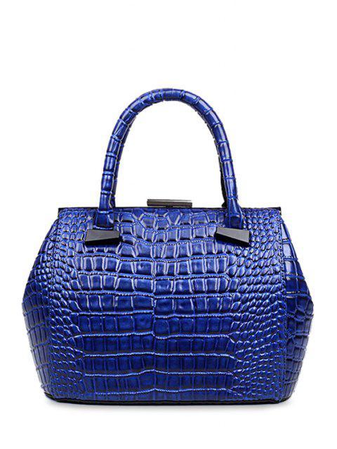 Crocodile Imprimer fermeture clip sac fourre-tout - Bleu  Mobile