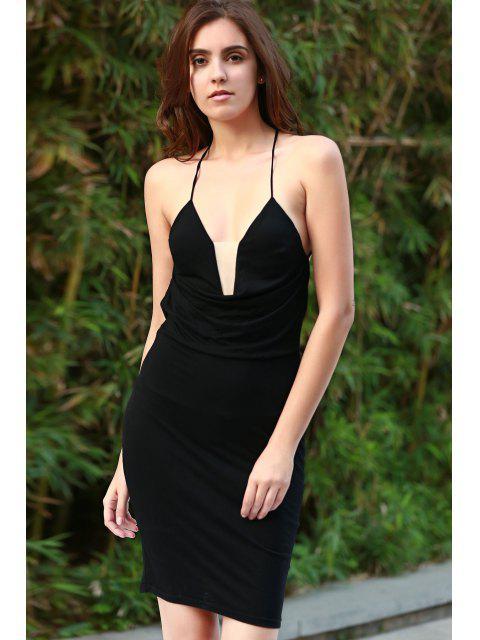 shops Black Cami Bodycon Dress - BLACK S Mobile