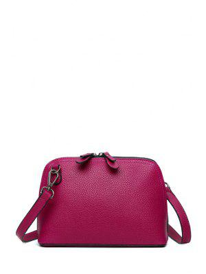 Solid Color Zip Stitching Crossbody Beutel