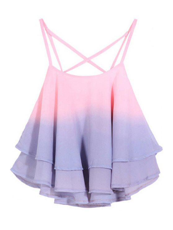 outfits Cami Ombre Color Tank Top - PINK ONE SIZE(FIT SIZE XS TO M)