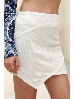 Las Nalgas De Paquete Mini Falda - Blanco L