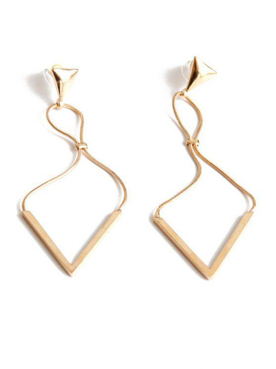 trendy Triangle Drop Earrings - GOLDEN