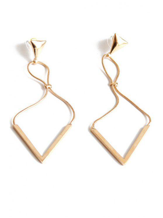 trendy Triangle Drop Earrings - GOLDEN