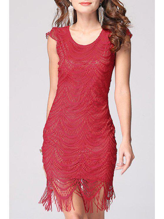 Lace V Neck Bodycon Dress