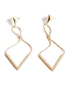 Triangle Drop Earrings - Golden