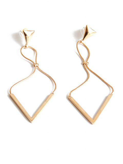 Pendientes elegante Triangle - Dorado  Mobile