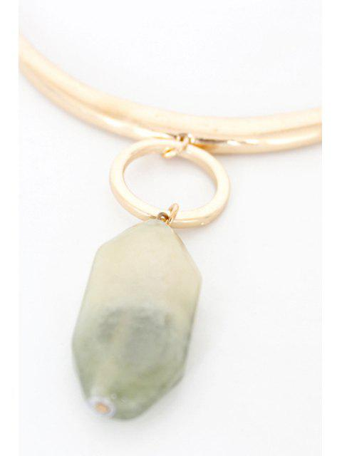 buy Delicate Alloy Natural Stone Necklace - GOLDEN  Mobile