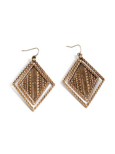 womens Vintage Alloy Carving Earrings -   Mobile