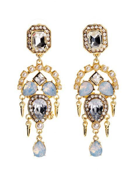 chic Faux Crystal Decorated Earrings - GOLDEN  Mobile