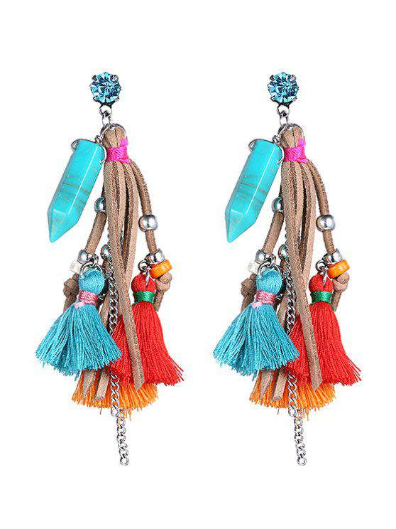 sale Stylish Colorful Tassel  Earrings - COLORMIX
