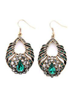Charming Water Drop Faux Crystal Earrings - Copper Color