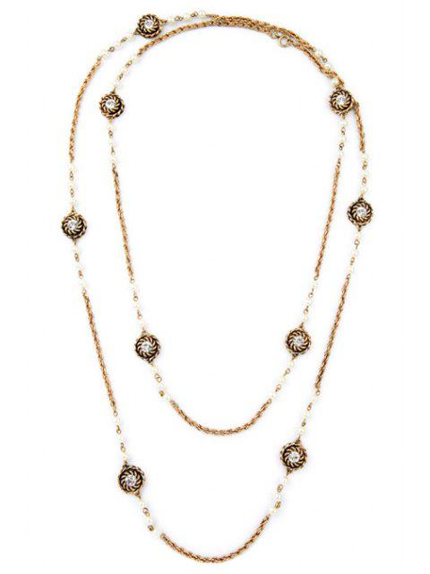 latest Fashionable Alloy Floral Necklace -   Mobile