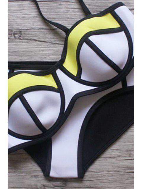 trendy Color Block Cami Bikini Set - COLORMIX S Mobile