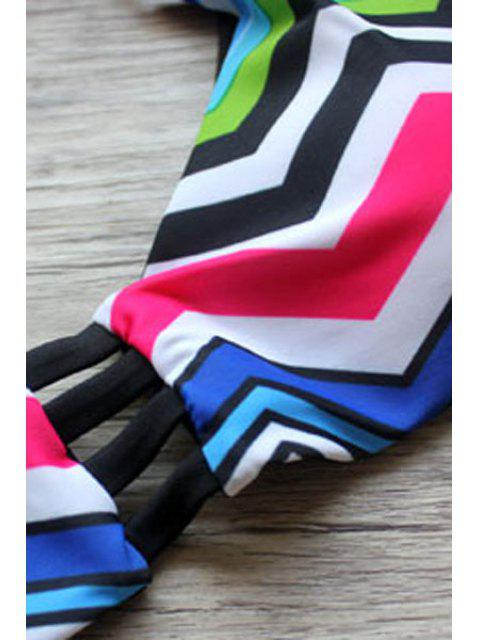 new Zig Zag Print Cami Bikini Set - COLORMIX S Mobile