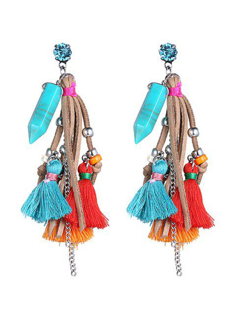 sale Stylish Colorful Tassel  Earrings - COLORMIX  Mobile
