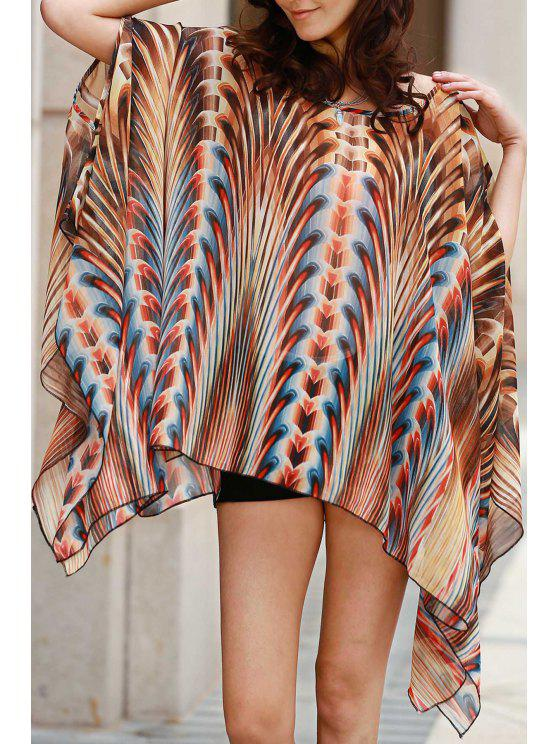 outfits Square Cut Printed Cover-Up - COLORMIX ONE SIZE(FIT SIZE XS TO M)