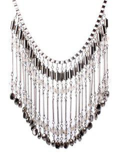 Stylish Bohemia Tassel Necklace - White