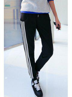 Side Stripe Relaxed Running Pants - Black M