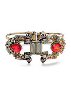 Vintage Faux Pearl Design Two-Layered Bracelet - Copper Color