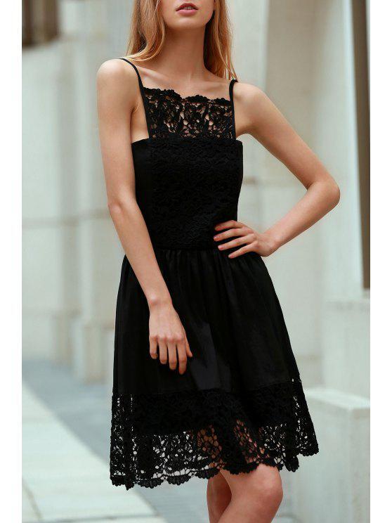الرباط تقسم كامي اللباس الأسود - أسود XL