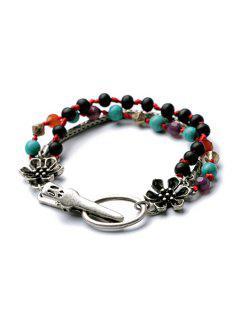 Vintage Flower Bead Bracelet