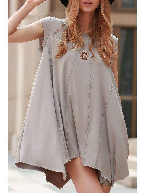 Irregular Hem Tunique - Gris S Mobile