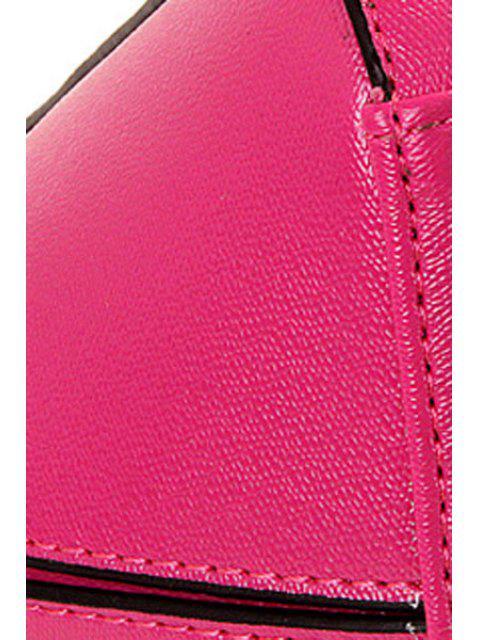 shop Letter Print Solid Color Tote Bag -   Mobile