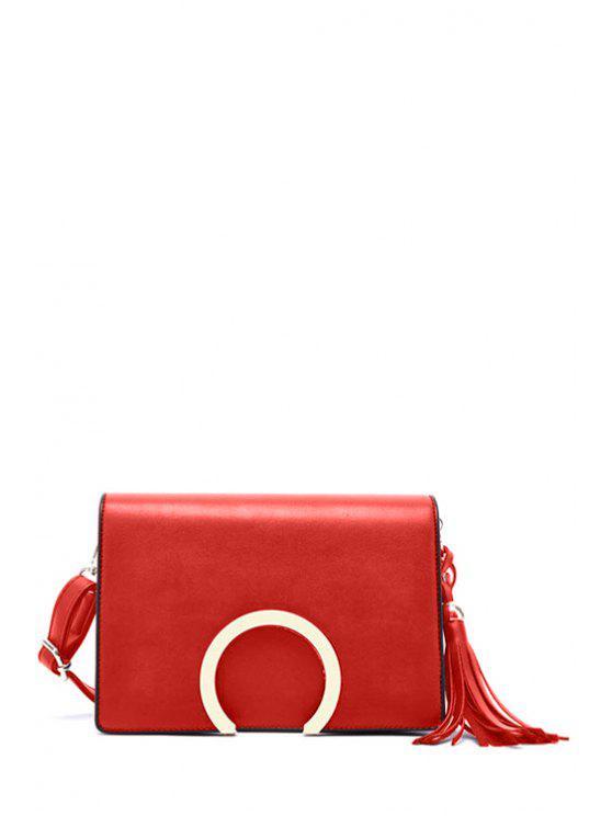 Couverture métallique Tassel Sac bandoulière - Rouge