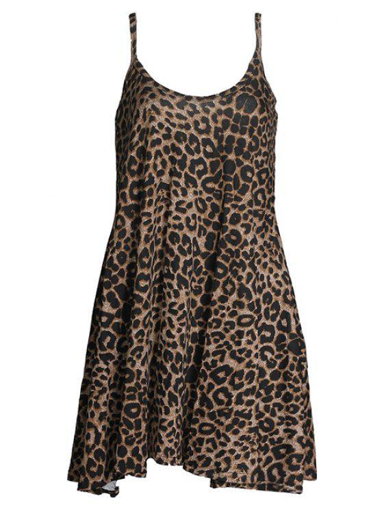 2019 Low Back Leopard Print Cami Dress In LEOPARD L  b461a665f