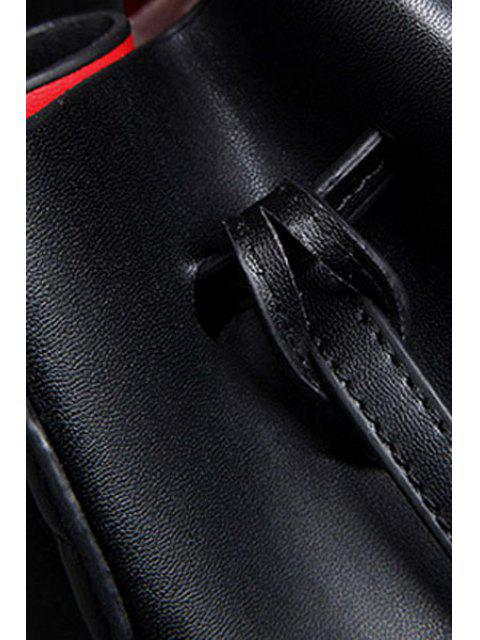 Lettre Imprimer Chaîne Solide Couleur Sac bandoulière - Noir  Mobile