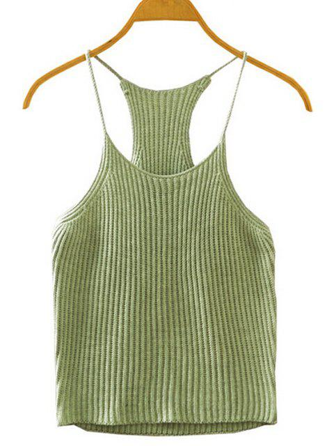 sale Crocheted Spaghetti Straps Tank Top - ARMY GREEN ONE SIZE(FIT SIZE XS TO M) Mobile