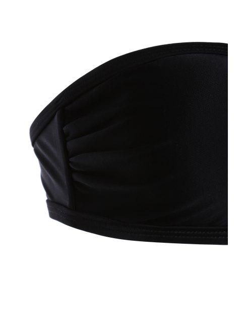 fashion Cut Out Strapless High Waist Bikini Set - BLACK L Mobile
