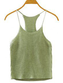 Buy Crocheted Spaghetti Straps Tank Top - ARMY GREEN ONE SIZE(FIT SIZE XS TO M)
