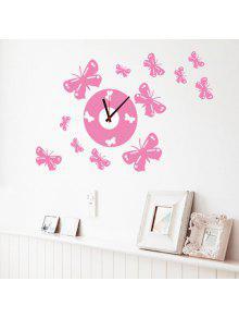 جودة الإبداعية دي بونوت شكل 3d الجدار ملصق ساعة - زهري