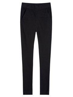 Pocket Design Skinny Pants - Black Xl