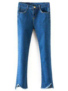 Deep Blue High Waist Flare Jeans - Deep Blue Xl
