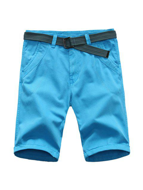 Jambe droite Shorts Couleur Zipper Fly Men Pure - Azur 32 Mobile