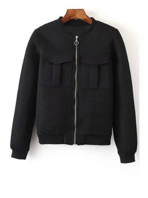 online Big Pocket Mesh Design Pilot Jacket - BLACK S Mobile