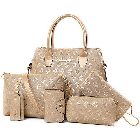 Stylish Metal and Embossing Design Tote Bag For Women 174640101