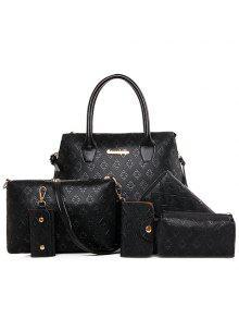 حقيبة كتف مصنوع من المعدن - أسود