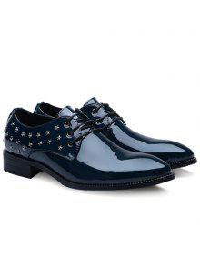 العصرية ستار وبراءات الاختراع والجلود تصميم أحذية رسمية للرجال - أزرق 42