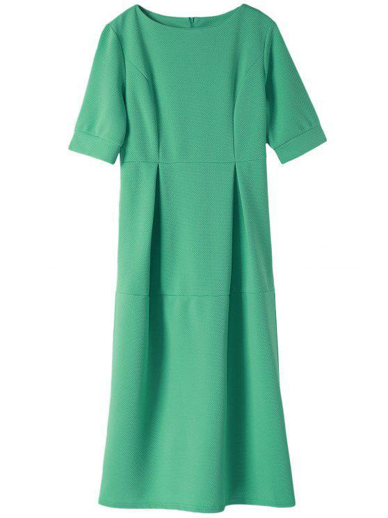 lady Light Blue Half Sleeve Dress - LIGHT BLUE L