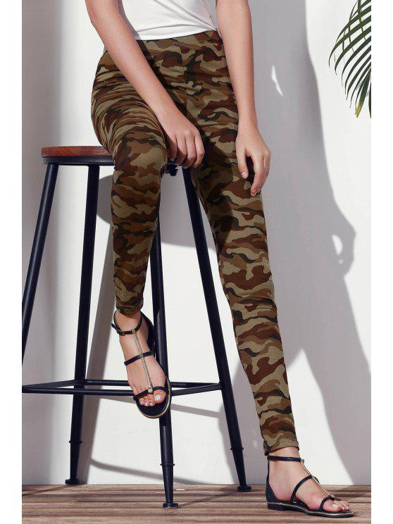 outfits Camoflage Skinny Leggings - ARMY GREEN L