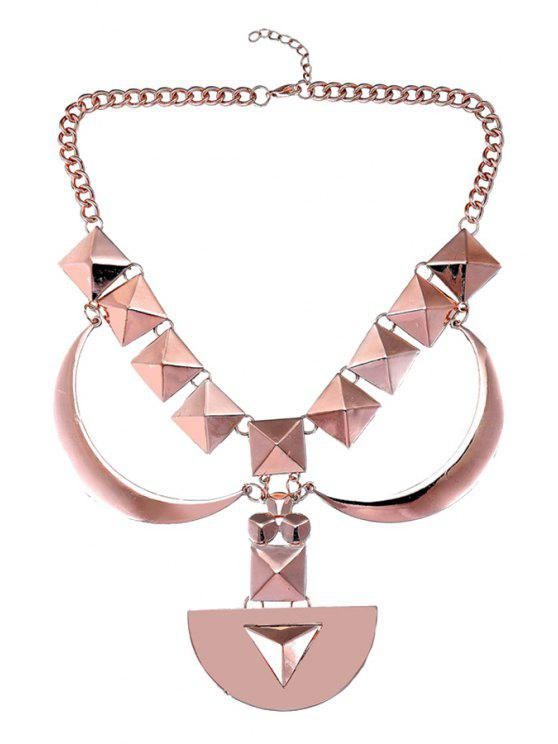 outfit Geometric Design Sweater Chain - ROSE GOLD