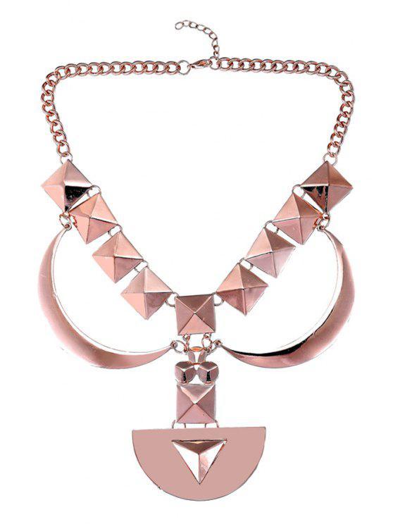 Conception géométrique chaîne Pull - Or de Rose