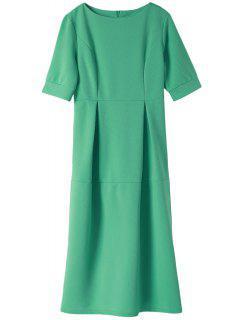 Light Blue Half Sleeve Dress - Light Blue S