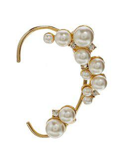 ONE PIECE Stylish Faux Pearl Decorated Earring For Women - Golden