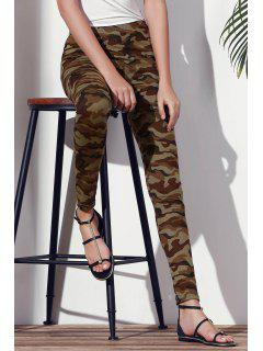 Camoflage Skinny Leggings - Army Green 2xl