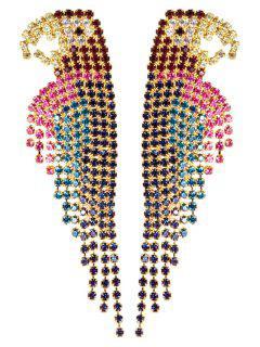 Colorful Rhinestone Parrot Earrings